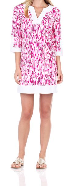 Holly Dress in Rain Drop Hot Pink Hey Jude, Rain Drops, Summer Collection, Palm Beach, Envy, Hot Pink, Cover Up, Boutique, Clothing