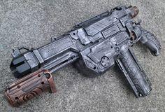 Nerf Vortex Lumitron- Apocalyptic, Zombie, Vampire, Cosplay, Steampunk Gun - (Pewter/Aut.Gold)