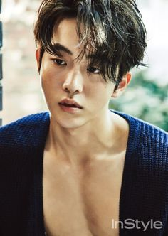 South Korean actor Nam Joo Hyuk is the latest star to show off his good looks for the fashion publication InStyle Magazine. Nam Joo Hyuk's photo shoot is sure to leave fans drooling as the star can been in a variety of poses and outfits. Nam Joo Hyuk Abs, Nam Joo Hyuk Cute, Jong Hyuk, Lee Jong Suk, Nam Joo Hyuk Lee Sung Kyung, Park Hae Jin, Park Seo Joon, Asian Actors, Korean Actors