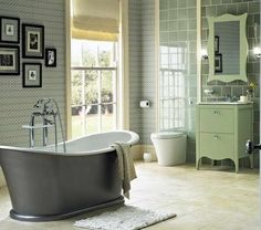 Traditional Bathroom Decorating With Floor Tiles