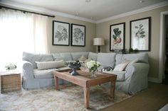 Great paint color - Latte by Restoration Hardware.-Benjamin Moore match Crisp Khaki and Hemp Seed