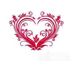 """This free embroidery design is the """"Elegant Valentine's Day Heart""""."""