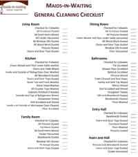 house cleaning check off list