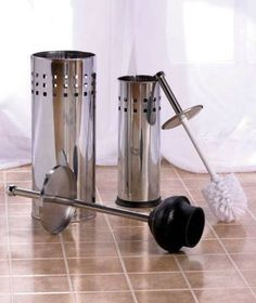 New Chrome Metal Stainless Steel Or Bronze Toilet Bowl Brush Or Plunger Toilet Brush Toilet Bowl Brush Stainless Steel Bathroom