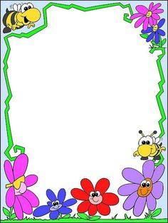 Printable templates: Invitation ideas and varied templates - Printable templates: Invitation ideas and varied templates - Frame Border Design, Page Borders Design, Butterfly Frame, Flower Frame, Printable Border, Printable Templates, School Board Decoration, Picture Borders, Owl Theme Classroom