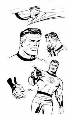 Bruce Timm, Comic Book Artists, Comic Artist, Comic Books Art, Mister Fantastic, Fantastic Four, Dc Comics, Ligne Claire, Superhero Characters