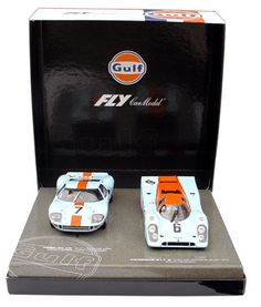 Fly 99046 Gulf Porsche 917K / Ford GT40 2-car set (C) (E) [99046] - $169.95 : Electric Dreams, New and Vintage Slot Cars