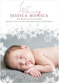 Cute winter birth announcement