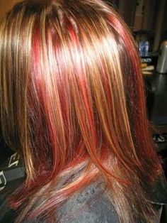 #chunky #lowlite #hilites #redkencolorist #red #blonde #peekaboo #salonprodigylakewood #hairgoddess_01 #ilovemyjob
