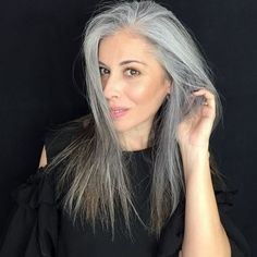 The world can tell when you feel confident! Style hair with confidence with our styling collection! Hairstyle Ideas, Hair Ideas, Gray Hair Highlights, Medium Hair Styles, Long Hair Styles, Gray Hair Growing Out, Breaking Hair, Vitamins For Hair Growth, Ageless Beauty