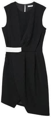 Shop for MANGO Contrast waist dress at ShopStyle.com