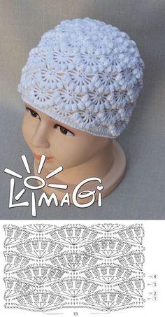Crochet Baby Hats Crochet E Bonnet Crochet, Crochet Cap, Crochet Diagram, Crochet Motif, Crochet Designs, Crochet Stitches, Crochet Patterns, Crochet Baby Clothes, Crochet Baby Hats