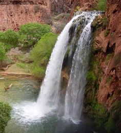 Havasupai means people of the blue-green waters. The spectacular waterfalls and isolated community within the Havasupai Indian Reservation attract thousands of visitors each year.  The Havasupai are intimately connected to the water and the land. When you enter their land, be respectful, you are entering their home.