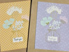 Floral Thank You Note Cards  Thank You Postcards  Floral