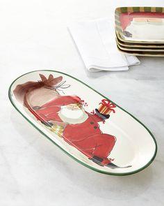 Vietri Old St. Nick Cookie Platter