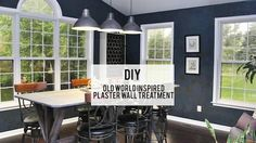 DIY Faux Plaster Wall Treatment - Here's how to turn builder-basic walls into old world chic with a weathered crumbled stone effect like you see in wine cellars, without breaking the bank!