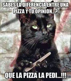 sabes la diferencia entre una pizza y tu opinión?