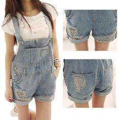 2016 Leisure summer lady loose denim overalls plus size casual denim shorts pants suspenders Jumpsuits Rompers women jeans Z802