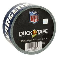 GET OUT!!!   Duck Brand 240547 San Diego Chargers NFL Team Logo Duct Tape, 1.88-Inch by 10 Yards, Single Roll - Amazon.com