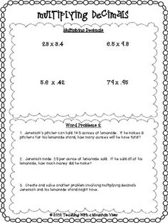 math worksheet : 1000 ideas about multiplying decimals on pinterest  decimal  : Decimal Word Problems Worksheet