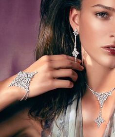 Rosendorff Indulgence Collection Brilliant Diamond Bracelet with Matching Necklace and Matching Earrings
