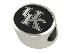 University of Kentucky Wildcats UK Bead Fits Most Pandora Style Bracelets Including Pandora, Chamilia, Biagi, Zable, Troll and More. High Quality Bead in Stock for Immediate Shipping