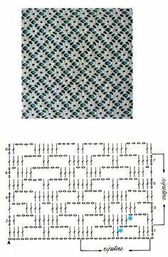 Motif Bikini Crochet, Crochet Lace Edging, Crochet Blouse, Crochet Doilies, Crochet Diagram, Crochet Stitches Patterns, Crochet Designs, Stitch Patterns, Filet Crochet Charts