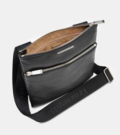 ERMENEGILDO ZEGNA: Shoulder bag Textured leather