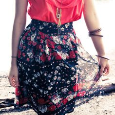 Botanist Skirt Floral, $39, now featured on Fab.