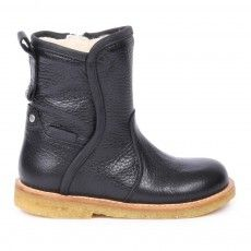 Flad Lined Boots Navy blue
