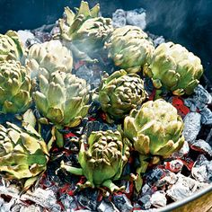 Charcoal-roasted Artichokes - Our Ultimate Grilling Recipes - Coastal Living #myhttender