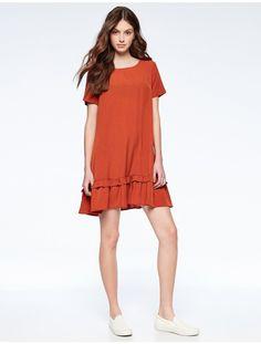 Double peplum dress