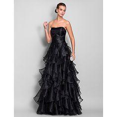 Vestido de Noche/Baile de Promoción de Organza con Corte en A y Hasta el Suelo (663685) – CLP $ 62.861