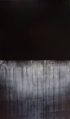 Lines of Flight op.370, oil on canvas, 2012, 324cm x 194cm by Akihito Takuma