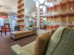 The angle of an image for hospitality photography can make the scene more inviting and help the viewer imagine themselves there, as in this shot for the Hilton Garden Inn Arcadia/Pasadena.