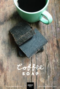 Homemade coffee soap recipe — thecrunchyurbanite.com