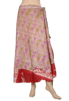 Dress Adds for everyday at dressadds.Indian?Recycled Printed Sari Two Layer Sarong