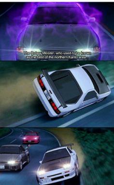 Shinigami vs Riosuke Initial D, Ae86, Rx7, Car Drawings, Shinigami, Car Wallpapers, Jdm Cars, Police Cars, Car Stuff