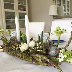 Osterdeko Today's birthday with table decorations for my husband # autumn Easter Flower Arrangements, Easter Flowers, Floral Arrangements, Easter Crafts, Crafts For Kids, Diy Crafts, Easter Decor, Deco Floral, Floral Design