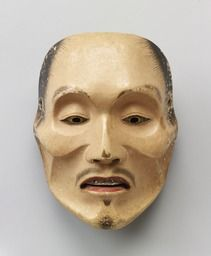 Noh mask, Yase-otoko (a skinny man),one of 47 Noh masks formerly owned by Konparu Sōke (the leading family of the Konparu school), Wood, colored Muromachi-Meiji period/15-19th century Originally owned by Konparu-za Tokyo National Museum.