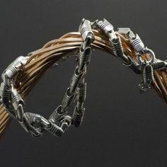 Цепь «Поршневая» в серебре | Кустодия-творческая мастерская. Ювелирные украшения ручной работы./ Цепи и браслеты золотые и серебряные/