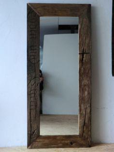 Wandspiegel - Spiegel aus historischen Eichenbalken