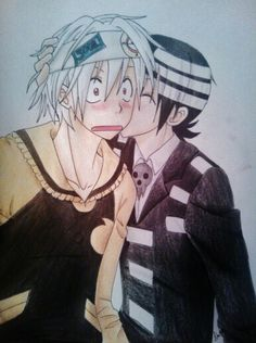 Death The Kid x Soul Eater this is so adorable!