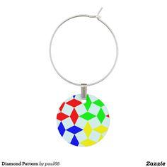 Diamond Pattern Wine Charm