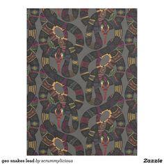 geo snakes lead fleece blanket #zazzle #blanket #fleece #snakes #sharonturner