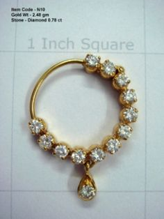 nose hoop | Factory Outlet For 14K/18K Indian Gold Rings,Gold Pendants, Diamond ...