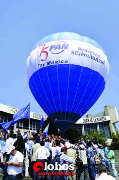globo aerostatico color azul, ideal para publicitar marcas.