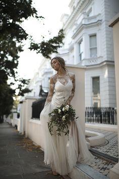 The Celestia gown / Nora Sarman / photo Ana Szabo #bridal #bridalgown #bride #london #hollandpark