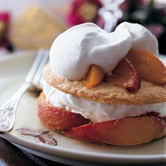 """Roasted Peach Pies with Cream 