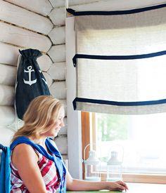 Ompele kätevät verhot – Katso ohje: Kotiliesi.fi - Curtains for summer cottage